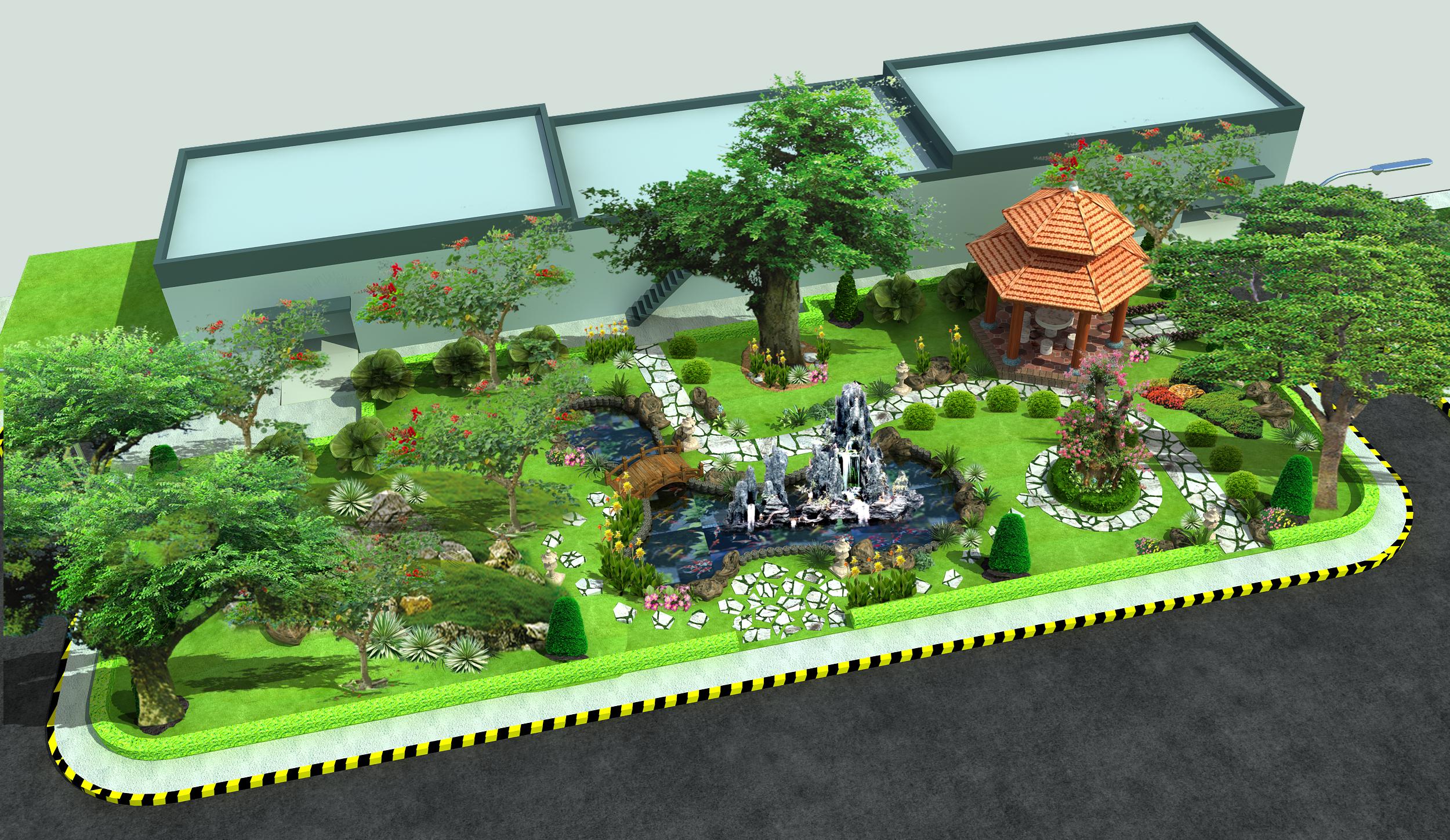 Kết quả hình ảnh cho thiết kế thi công cảnh quan cây công trình